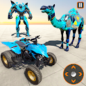 Camel Robot Transform Bike Robot Shooting Games icon