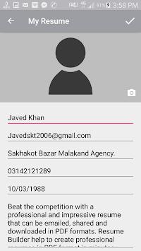 download my resume best cv builder apk latest version app for