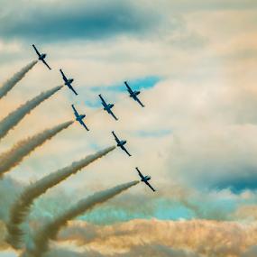 Breitling Jet Team by Werner Ennesser - Transportation Airplanes ( breitling jet team,  )