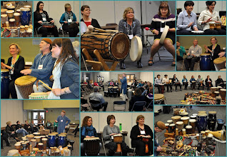 Photo: Our drumming circle- how we ended the day!