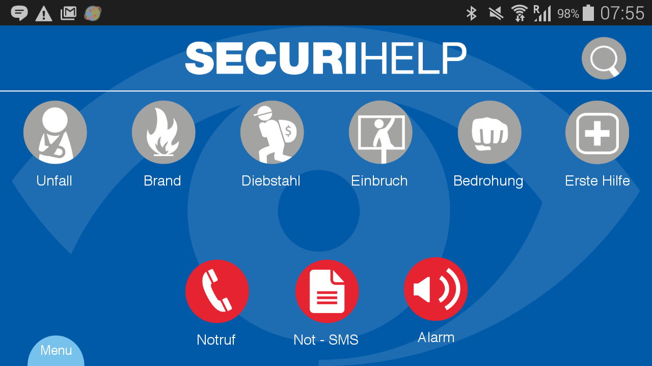 SecuriHelp- screenshot