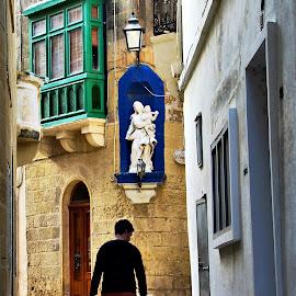 Street walk by Francis Xavier Camilleri - City,  Street & Park  Street Scenes
