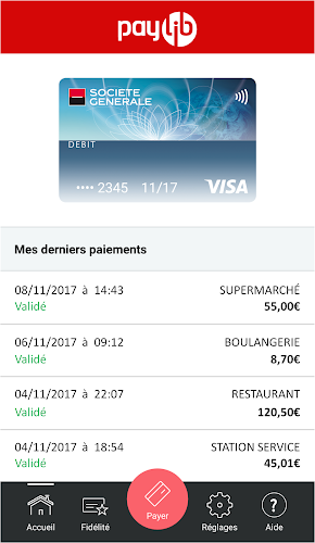 Paylib sans contact Android App Screenshot