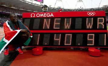 Photo: David Lekuta Rudisha  Nuevo Récord Mundial en 800 m lisos Juegos Olímpicos 2012