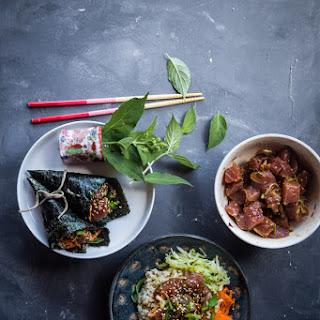 Easy Hawaiian spicy Ahi poke bowl