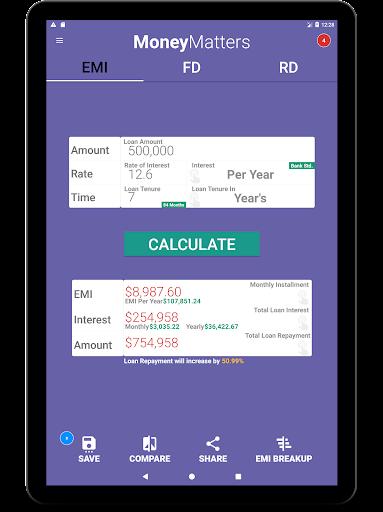 Loan Calculator-EMI, RD & FD Calculator screenshot 10