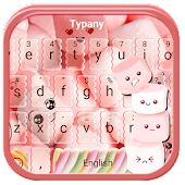 Typany Pink Marshmallow Keyboard Theme
