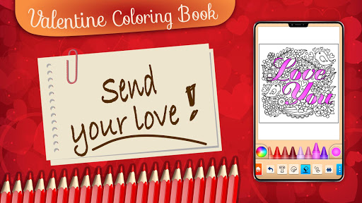 Valentines love coloring book filehippodl screenshot 24