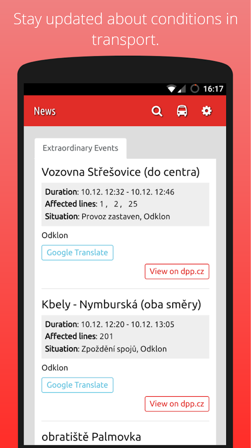 DPP Prague Public Transport- screenshot