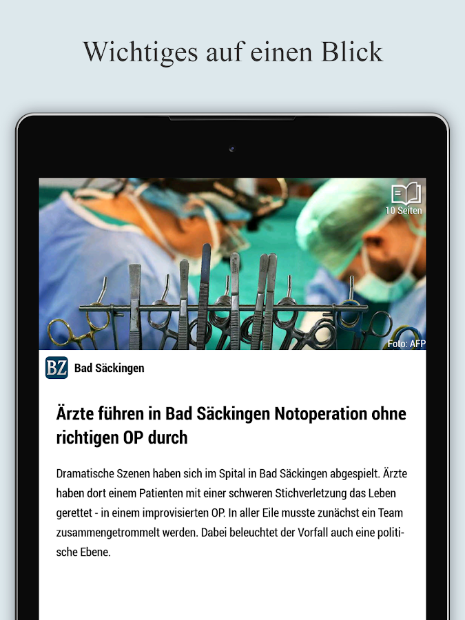 BZ Smart – Screenshot