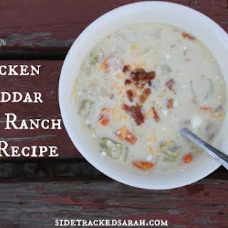Chicken Cheddar Bacon Ranch Soup.