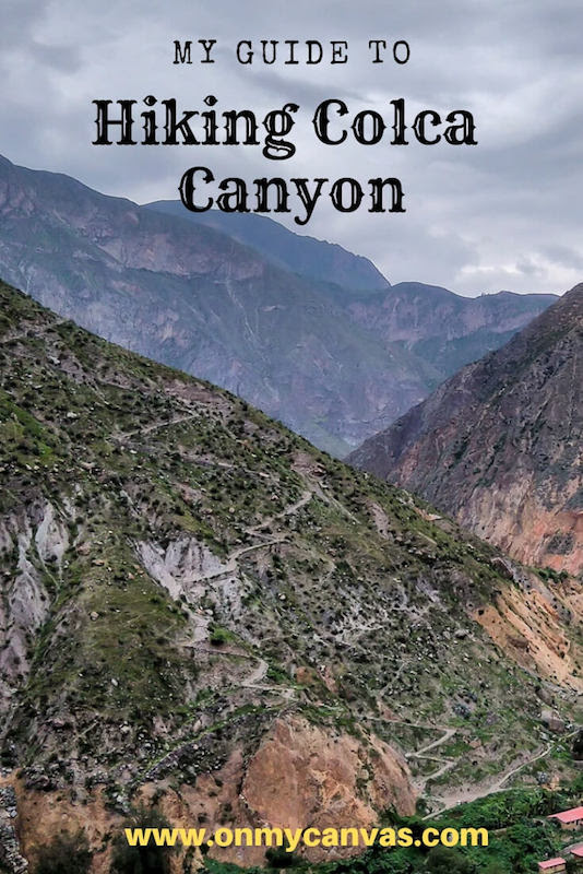 image of colca canyon being used as a pinterest image for hike colca canyon guide
