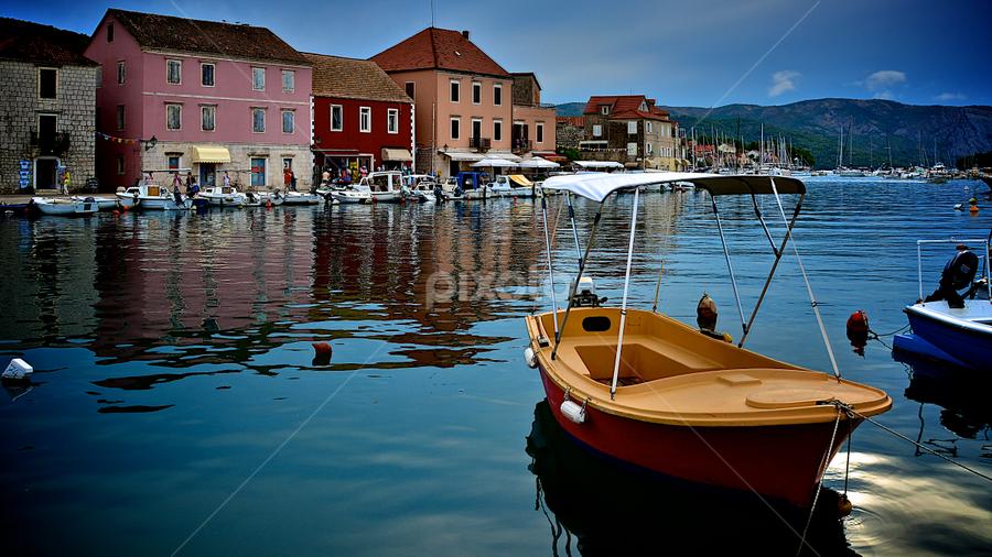 Stari Grad - Island Hvar by Filip Caric - City,  Street & Park  Street Scenes ( starigrad hvar croatia summer boat sea )