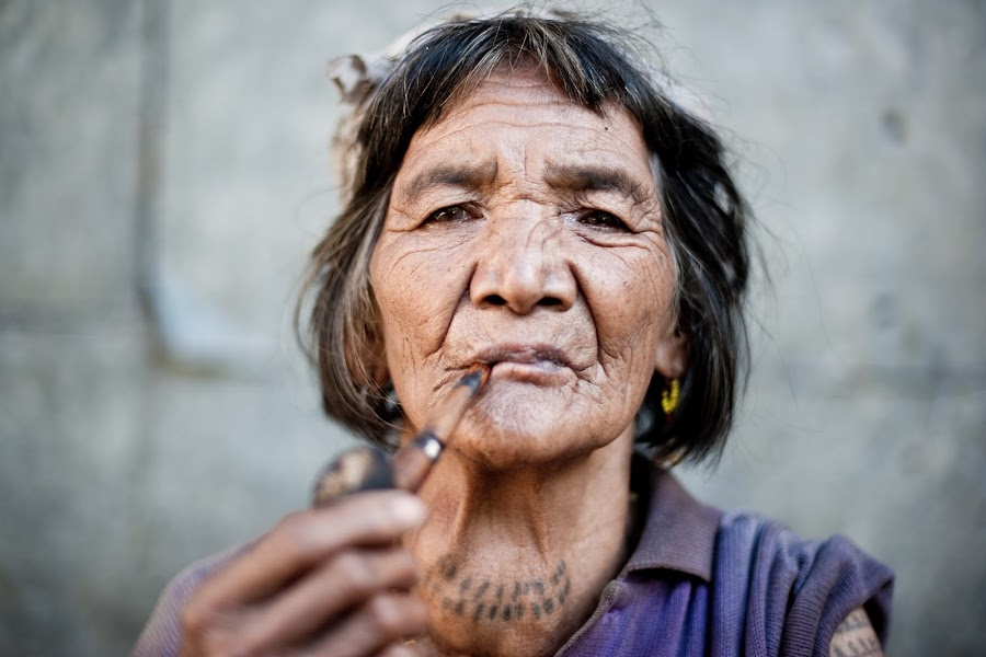 Smokin' by Charles Stinson - People Street & Candids ( old woman tobacco smoke philippines )