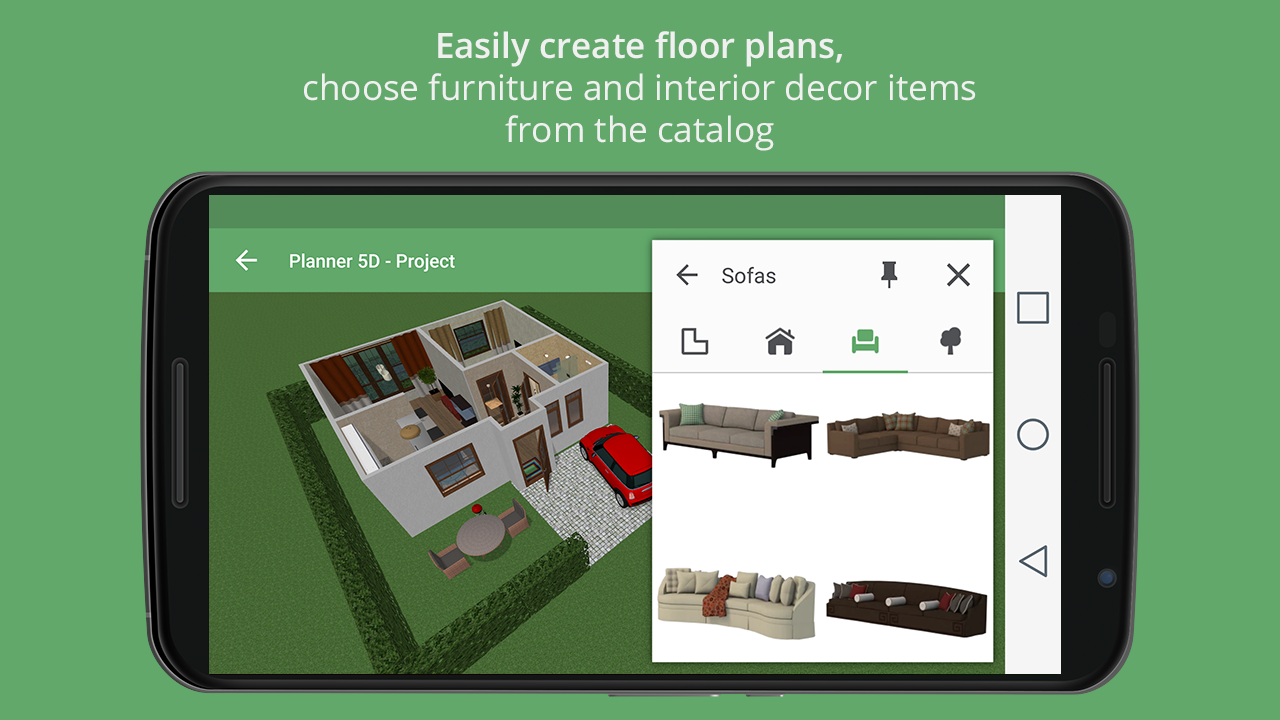 Planner 5d home interior design creator android apps for App para crear casas 3d
