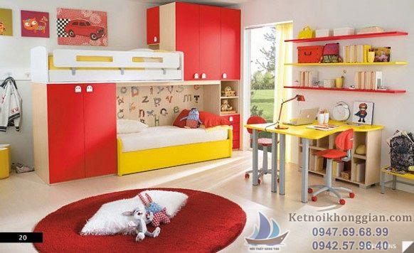 thiết kế phòng ngủ bé trai đẹp