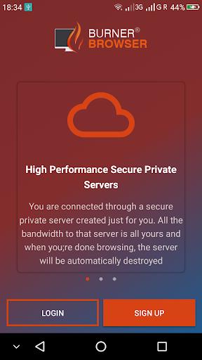 BurnerBrowseru00ae  - Secure, Private Burner Browser 1.1.3 screenshots 1