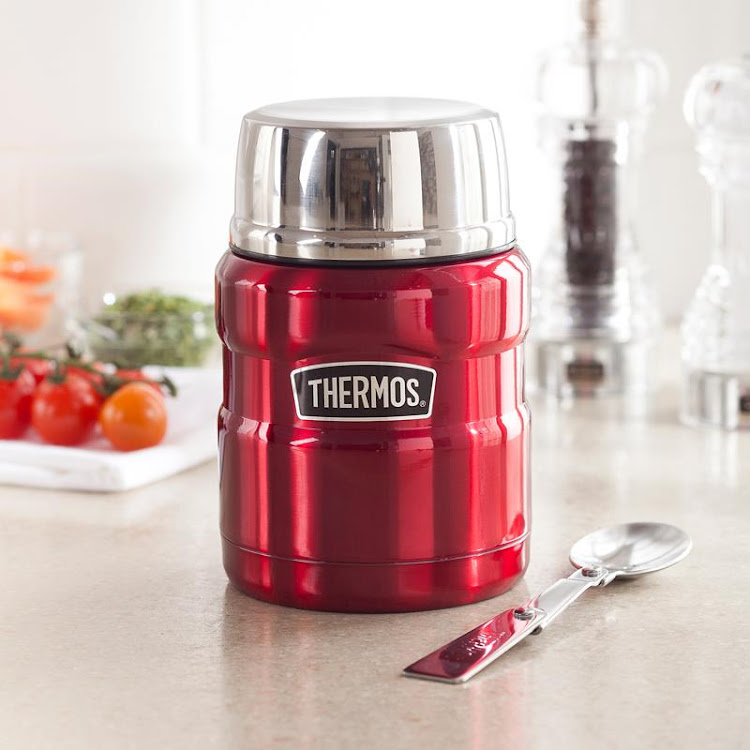 THERMOS Stainless King Red Food Jar 470ml/16oz by GREEN WHEEL INTERNATIONAL SDN BHD