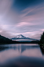 Photo: Sherbet Mountain  Soon the mountain will be completely white and I hope to tromp around in its snowy goodness. Got the 4 wheel sled ready to go now I just need to ax some things off the calendar and get my butt moving.  Happy Hump Day!  #mounthood  #oregon  #Ihavewords