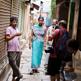 photographer by Santosh Pandey - People Street & Candids ( rajesh singh, photographer, varanasi, lanes, taking photos, pwc75 )