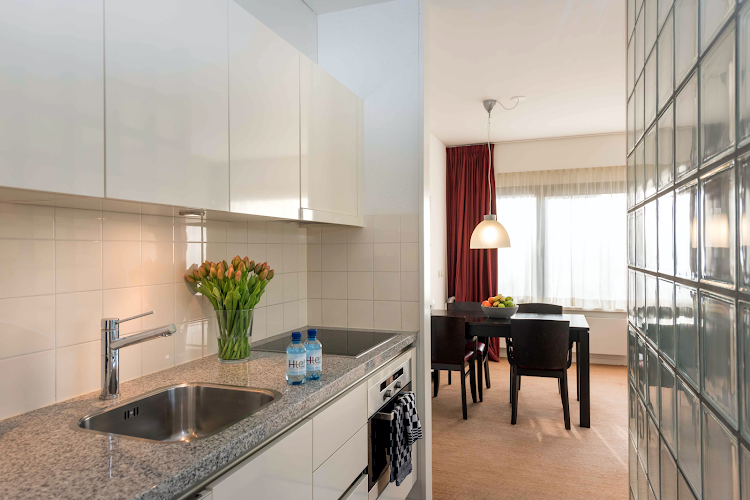 Fully equipped kitchen at Karel Appel Apartment