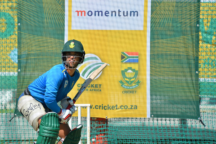 JP Duminy during the South African national men's cricket team training session and press conference at PPC Newlands on March 15, 2019 in Cape Town, South Africa.