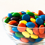 Photo of pile of M&M candies