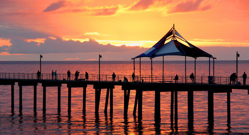 Australia-Adelaide-pier - A stunning sunset at Noarlungha Pier in Adelaide, South Australia.