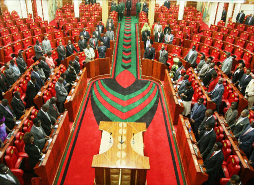 MPs during the opening of refurbished Parliamentary chambers on August 7 last year