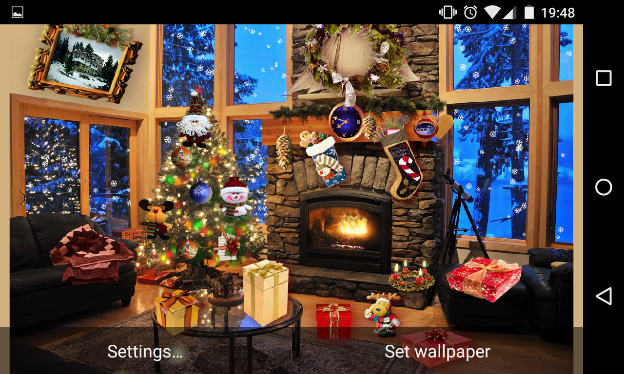 Christmas Fireplace LWP- screenshot