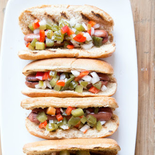 Hot Dogs with Homemade Relish