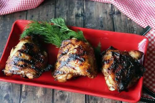 """Semi-Spicy Grilled Chicken """"The whole crew loved this juicy, flavorful chicken. This..."""