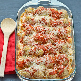 Cheesy Turkey Meatball Casserole Using Kraft Fresh Take