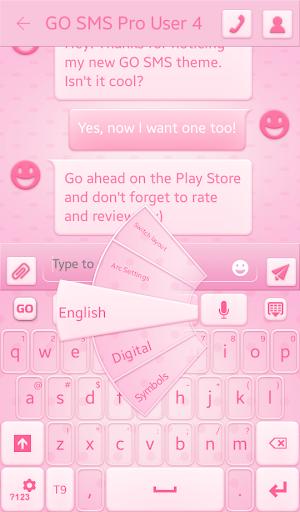 粉红色的斑点键盘
