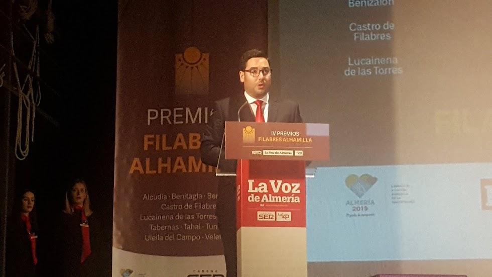 José Díaz, alcalde de Tabernas, ha cerrado la gala.
