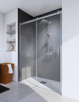 Porte de douche coulissante en niche, 100, 120, 140 ou 160 cm, Urban II