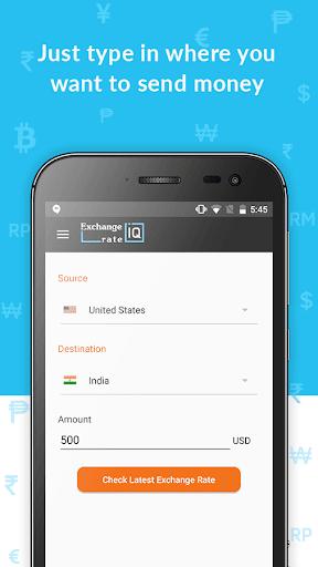 Exchange Rate IQ -Comparar transferencia de dinero screenshot 2