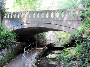 Photo: Ferndell gardens - The path crosses under the narrow bridge on Fern Dell Drive.