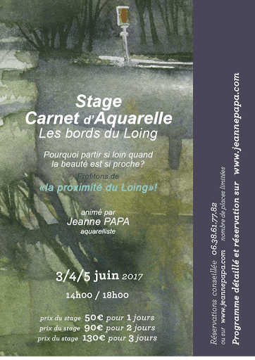 jeanne PAPA stage aquarelle 2017