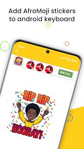 AfroMoji: African Afro Emoji Stickers Black 4