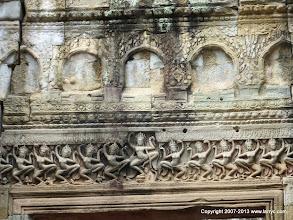 Photo: Carved lintel at Preah Khan