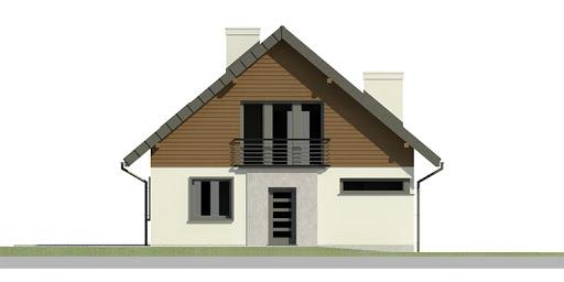 Dom przy Cyprysowej 2 bis - Elewacja przednia