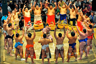 Photo: The Maku-uchi (top division) East.