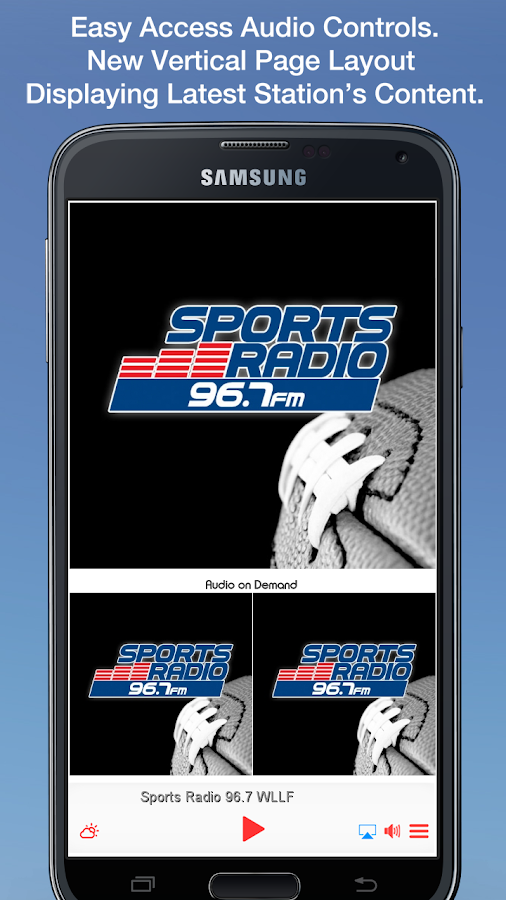 Sports Radio 96.7 WLLF- screenshot