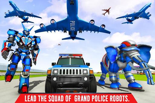 Police Elephant Robot Game: Police Transport Games 1.0.1 6