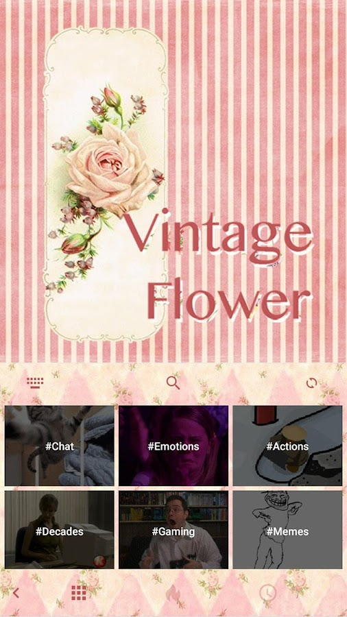 Vintage-Flower-Keyboard-Theme 8