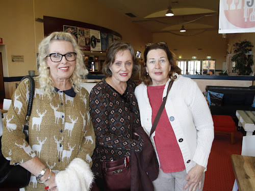Peter and Betty Miller's daughters Helen Bell, Gail Miller-Glessing and Jenny Martyn at Tuesday's sale of the family property 'Noelurma-Gruie.'