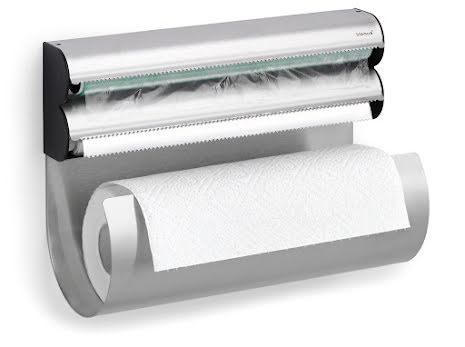 OBAR, Väggmonterad hållare för hushållspapper, plast- och al