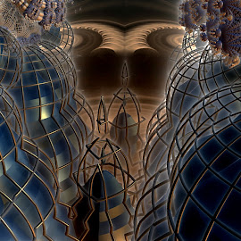 Fear Of The Middletown Monster by Rick Eskridge - Illustration Sci Fi & Fantasy ( jwildfire, mb3d, fractal, acdsee 19, twisted brush )