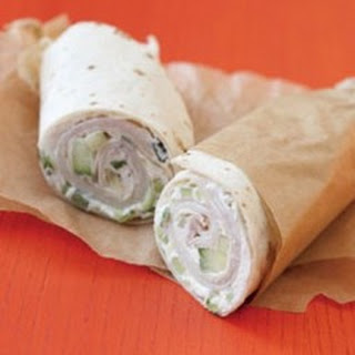 Wrap Sandwich with Turkey & Cukes